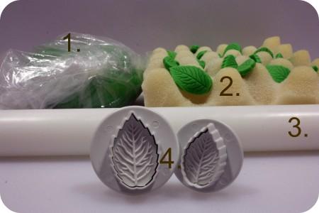 fondant-leaves