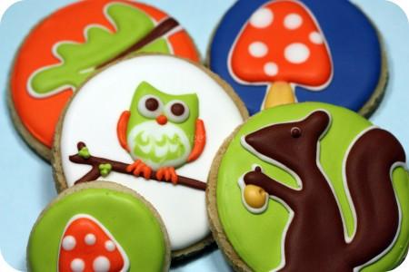 decorated autumn cookies