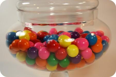 gumballs in jar