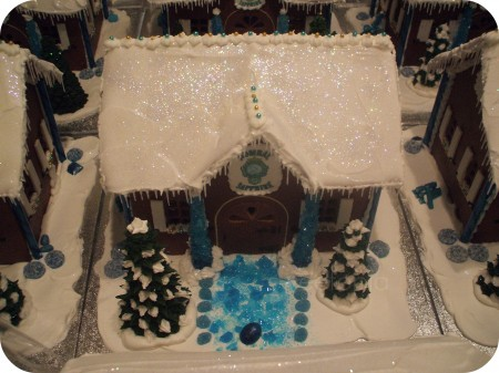 Bombay Sapphire Gingerbread House above