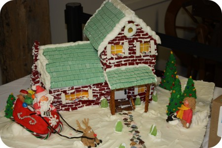 gingerbread house santas sleigh
