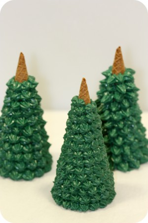 unfinished ice cream cone trees