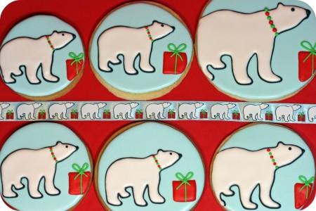 polar bear parade of cookies