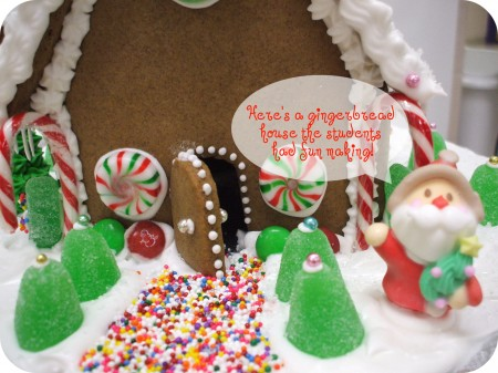 simple little gingerbread house